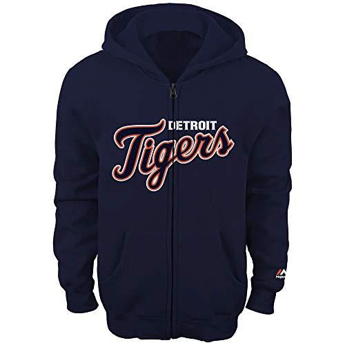 MLB Youth 8-20 Team Color Fleece Wordmark Logo Full Zip Sweatshirt Hoodie