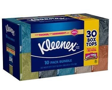 Kleenex Facial Tissue Family Pack White 230-count (Pack of 10)