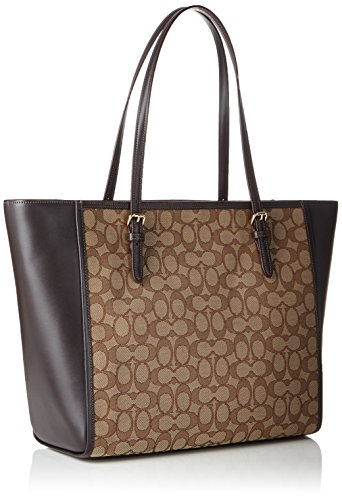 Signature Light Tote Turnlock Coach Beige Gold Brw Khaki Womens 5wXvwq1B7