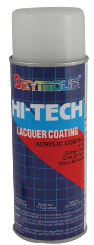 High Gloss Lacquer - Seymour 16-121 Hi-Tech Lacquers Spray Paint, UV Resistant Gloss Clear Acrylic