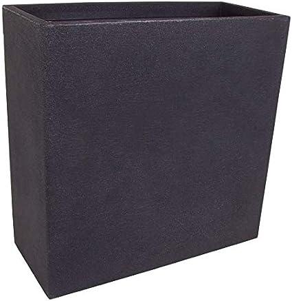 Spetebo XXL - Macetero (plástico, 60 x 60 x 26 cm), color gris oscuro: Amazon.es: Jardín