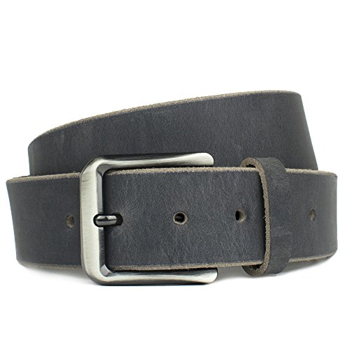 Nickel Free Smoky Mountain Distressed Leather Belt-Made in USA (34