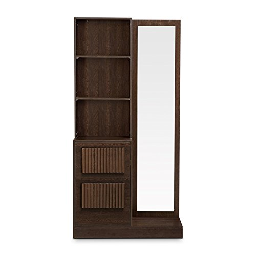 HomeTown Tiago Dresser With Mirror (Wenge)