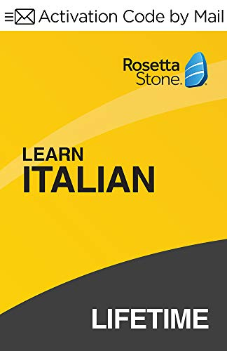 Rosetta Stone: Learn Italian with Lifetime Access on iOS, Android, PC, and Mac [Activation Code by Mail]