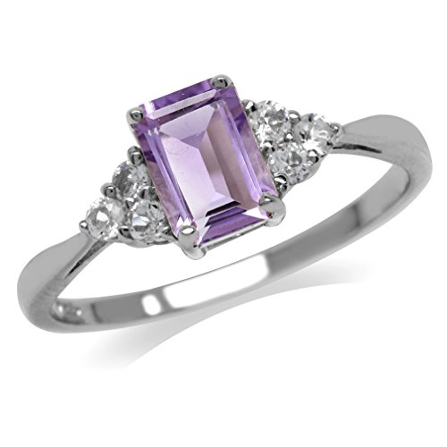 1.02ct. February birthstone Natural Amethyst Gold Plated Ring