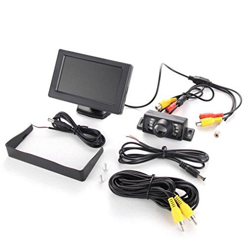 Dacawin 4 3 TFT LCD Monitor Car Backup Camera Rear View System Kit With  Night Vision (Black)
