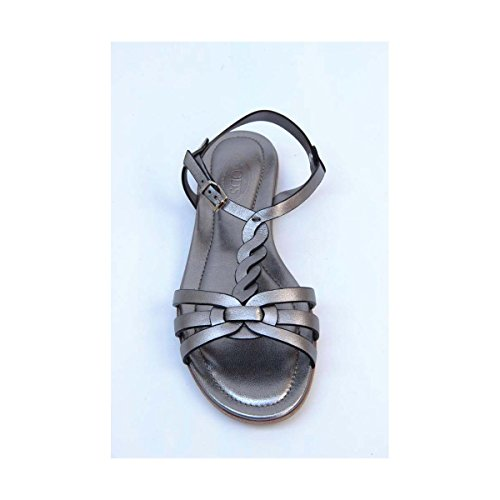 Tods Ladies Flat Sandal XXW0MD0A060SV0B210