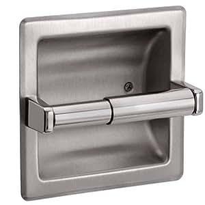 The best recessed toilet paper holder brushed nickel home kitchen - Recessed brushed nickel toilet paper holder ...