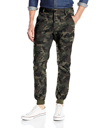 Italy Morn Mens Chinos Casual Pants Khakis Joggers Dress Slim Fit Black M(waist:34'') Camouflage