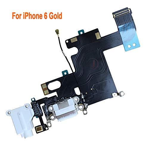 Johncase Charging Port Dock Connector Flex Cable w/Microphone + Headphone Audio Jack Port Ribbon Replacement Part Compatible iPhone 6 4.7