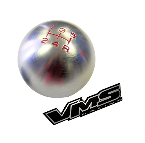 - VMS Racing 12x1.25mm Threaded 5 Speed ROUND BALL SHIFT KNOB in GUNMETAL Grey Gray Silver Billet Aluminum Compatible with Toyota m12x1.25 THREADED Shifter Rod (NO adapters)