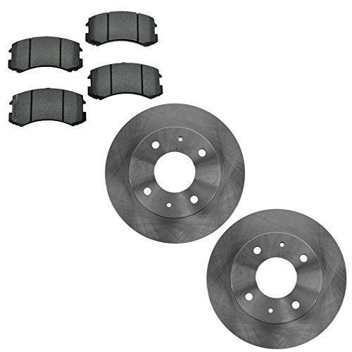 Front Brake Rotor & Semi Metallic Brake Pad Kit for Mitsubishi Lancer - Mitsubishi Lancer Brakes