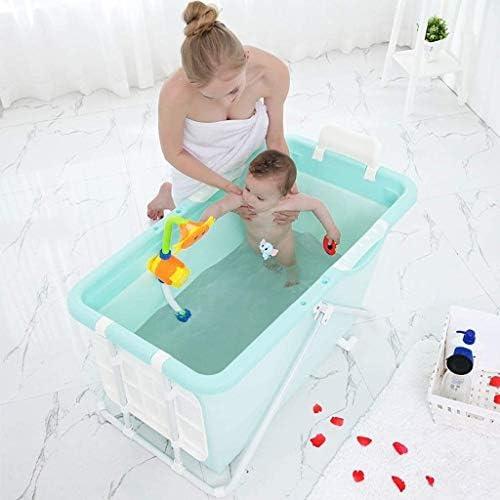 KJRJCQ 折り畳み式のバスタブ大人/子供のプラスチック製大型ベビースイミングポータブル/非膨張タブ/ランドリータブ (Color : Pink)