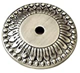 Belwith Keeler Richelieu Collection 1 1/2'' Knob Backplate Antique Pewter
