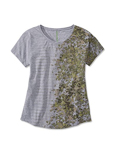 Orvis Women's Women's Drirelease Floral-and-striped Tee / Only Women's Drirelease Floral-and-striped Tee, Olive, Medium