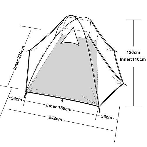Forceatt Tente 2-4 Personnes Camping, 4 Saison Imperméable Anti UV, Tente Ultra Legere Facile Dôme Double Couchepour… 4
