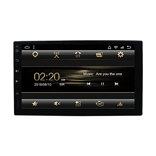 Double Din Car Stereo,Android 7.1 2G 16G Head Unit with Rear