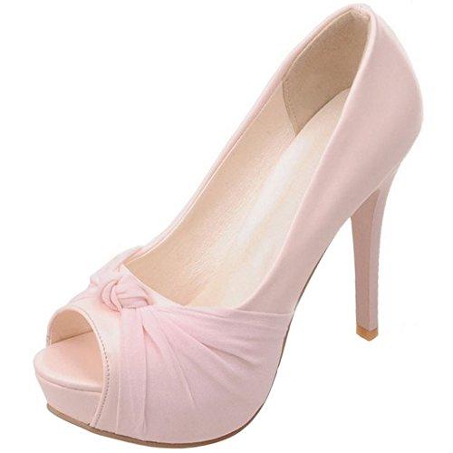 10 Ouvert Femms Bout 35 Haut Mariage Chaussures Talon 5cm Escarpins Talon Soirée de Rose Aiguille TAOFFEN 5t4qwYRBx