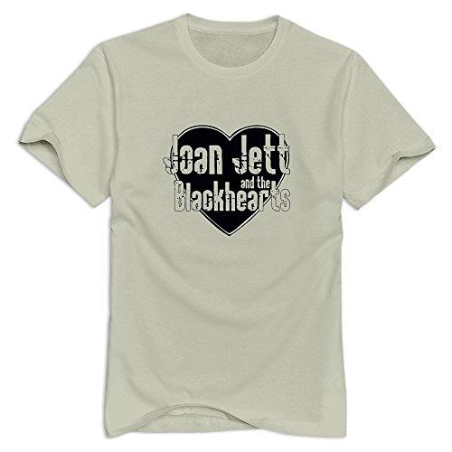 GYKU Men's Joan Jett & The Blackhearts T-Shirt Natural US Size M,100% Organic Cotton