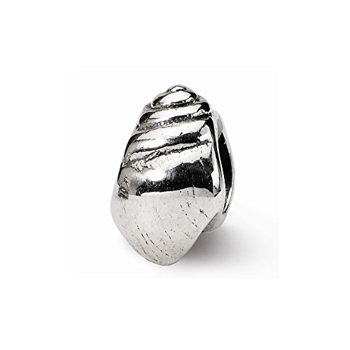 Sterling Silver s Conch Shell Bead by Reflection Beads