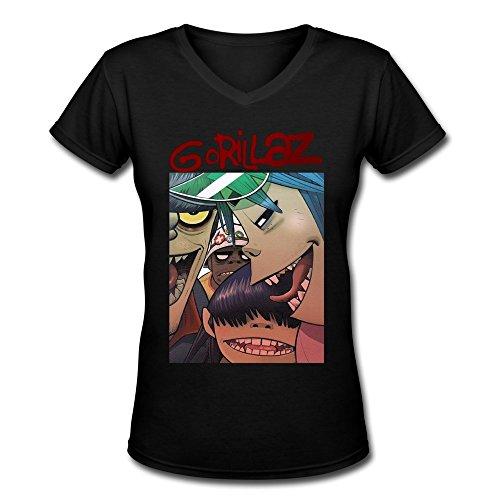 hezone-womens-gorillaz-v-neck-t-shirt-black-xxl