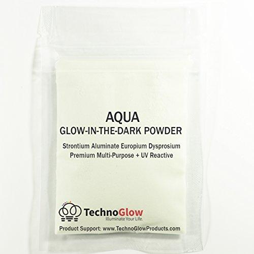 Glow in The Dark & UV Reactive Powder – Multipurpose PRO-Series (Natural Aqua, 2 Ounces (57g))