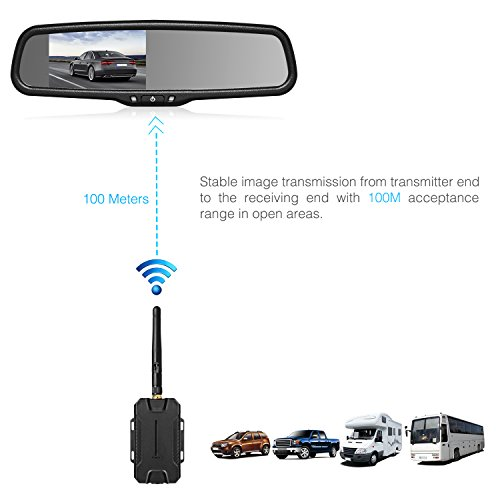 Auto Vox Wireless Backup Camera Kit With Hd Rearview