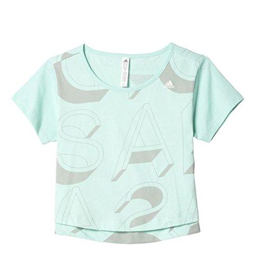 adidas YG AA AOP TEE - Kurzärmeln Mannschaftsbekleidung  T-Shirt - Mädchen, Grün, 170.