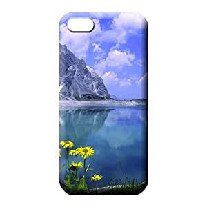 MMZ DIY PHONE CASEipod touch 4 phone carrying cases Unique Durability Protective Stylish Cases daisies by a mountain lake