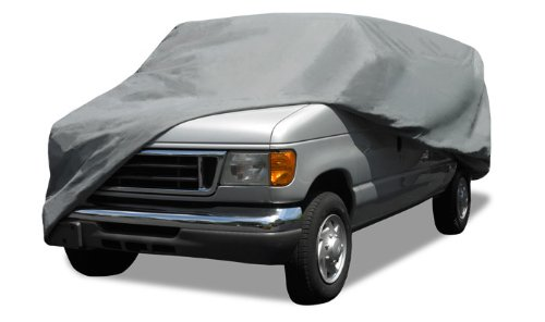 Budge Rain Barrier Van Cover Fits Mini-Vans up to 18 feet, VRB-1 - (Polypropylene with Waterproof Film, Gray) (2000 Nissan Quest Van)
