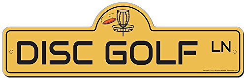 - SignMission Disc Golf Street Sign | Indoor/Outdoor | Funny Home Décor for Garages, Living Rooms, Bedroom, Offices Personalized Gift
