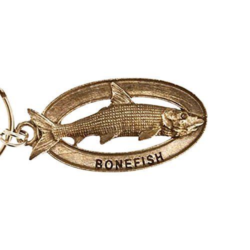 Creative Pewter Designs, Pewter Bonefish Key Chain, Antiqued Finish, SK037 by Creative Pewter Designs