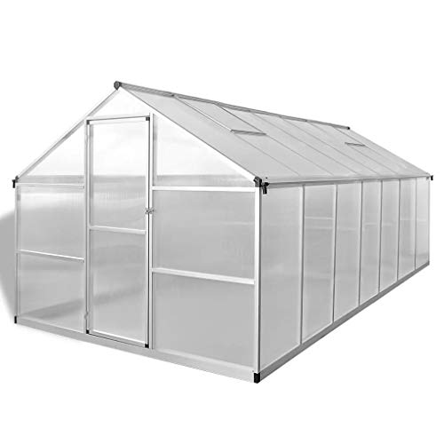 Tidyard Greenhouse Outdoor Wooden Greenhouse Cold Frame Grow House Shelter for Flower Plants Reinforced Aluminium 10.53…