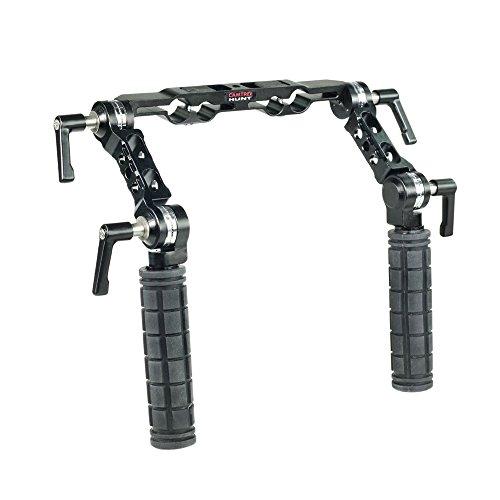 CAMTREE Hunt 19mm/15mm Rosette Handle Set (CH-1915-RH) Comfortable Handgrip Support for Rod Rail, Camera Shoulder Rig Kit