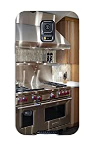 Hot New Professional-grade Wolf Oven Surrounded By Coppery Tile Backsplash Case Cover For Galaxy S5 With Perfect Design