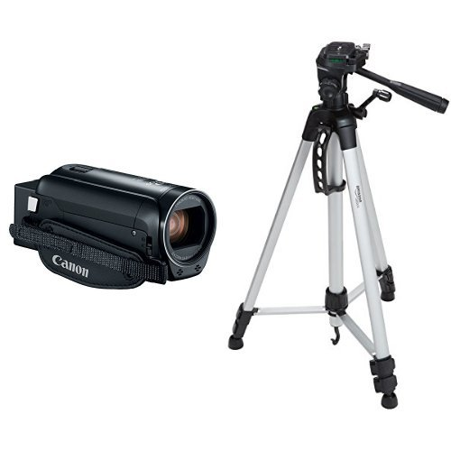 Canon VIXIA HF R800 Camcorder (Black) and 60-Inch Lightweight Tripod with Bag