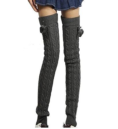 DESY Grueso invierno cálido calcetines/alargar/mujer calcetines lana rodilla rodilla medias pastillas Shin