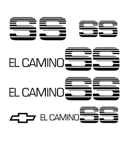 3M Film 1983 1984 1985 1986 1987 El Camino SS Super Sport Decal Sticker Stripe Kit 3M (Matte Black) ()