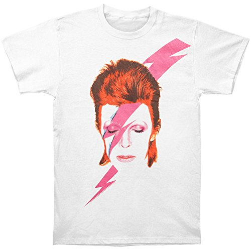 David Bowie Men's Aladdin Sane Slim Fit T-shirt Medium White