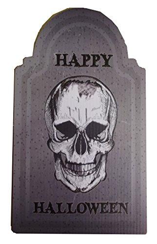 Aahs Engraving Halloween Small Tombstone Prop (Happy Halloween Skull)