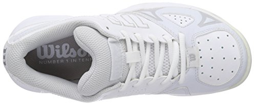 Blanco Gray para Steel 0 White Open 2 Grey Mujer Zapatillas W Rush de Wil Wilson Tenis Ice qpvHBn