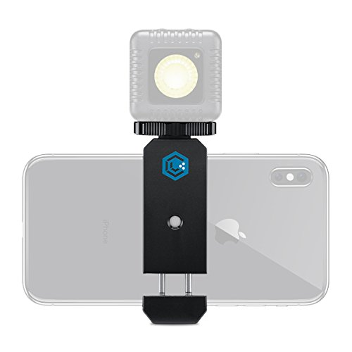 Lumi Pack - Lume Cube - Smartphone Clip for iPhone or Android Devices with Three 1/4-20 Threads for Easy Mounting