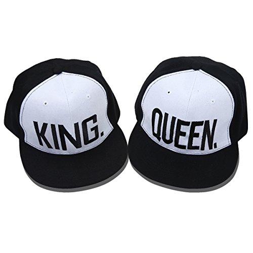 Yodensity - Gorra de béisbol - Con las palabras «King» / «Queen ...