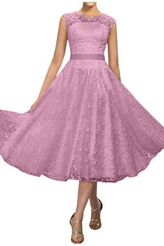 Marie A Wadenlang Kurz Abendkleider Hochzeitskleider Linie Rosa Elfenbein Dunkel Spitze Partykleider Braut La XvpqdX