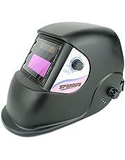 Spargos Lasmasker True Colour Auto Verduistering Snijden True Color Helm Masker Ogen Bescherming Zonne-energie Gas Mig Tig Arc Welder Zwart