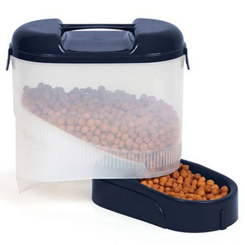 Dog Travel Feeder - Bergan 5 lb Travel Feeder with Handle