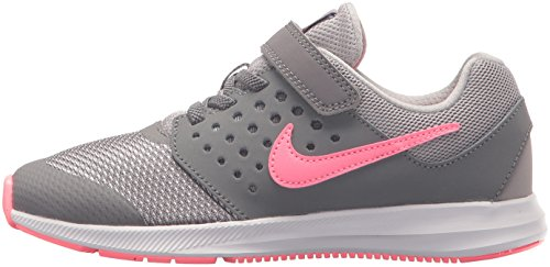 Nike Girls' Downshifter 7 (PSV) Running Shoe Gunsmoke/Sunset Pulse - Atmosphere Grey 11 M US Little Kid by Nike (Image #5)