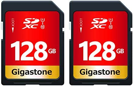 Gigastone 128GB 2-Pack SD Card UHS-I U1 Class 10 SDXC Memory Card High Speed Full HD Video Canon Nikon Sony Pentax Kodak Olympus Panasonic Digital Camera