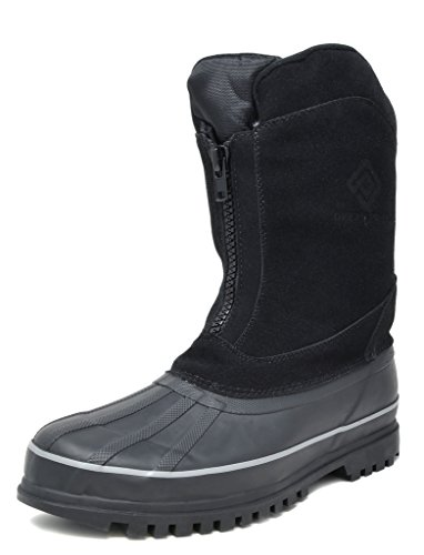 DREAM PAIRS Men's Blazzer-1 Black Insulated Waterproof Winter Snow Boots Size 9 M US