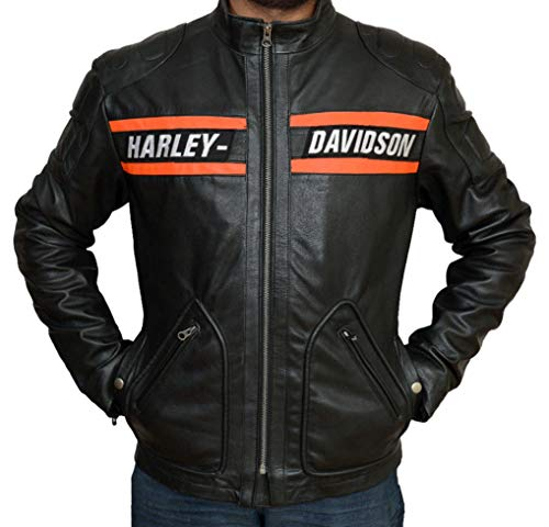 Tashco fashion Leather Jacket Black Biker Mens Leather for sale  Delivered anywhere in Canada